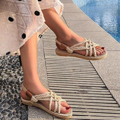 Sandals Woman Shoes Braided Rope With Traditional Casual Style And Simple Creativity Fashion Sandals Women Summer Shoes