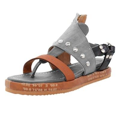 Shoes Woman Sandals Flat Casual Summer Sandals Women's Fashion Rome Flip Flops Wedges Sandals Artificial Leather Platform Shoes