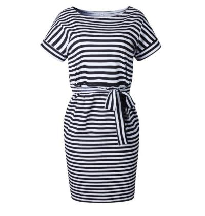 Short Sleeve Loose T Shirt Dress For Ladies 2020 Summer Dress Women Plus Size Pocket Casual Cotton Midi Wrap Dress Female Beach