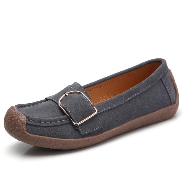 plardin Ballerina Flat Shoes Women Suede Leather Slip on Loafers Flat Ladies Moccains Fringe Soft Comfortable Flats Women