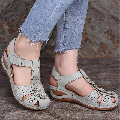 Women Sandals Plus Size 44 Wedges Shoes Woman Heels Sandals Chaussures Femme Soft Bottom Platform Sandals Gladiator Casual Shoes