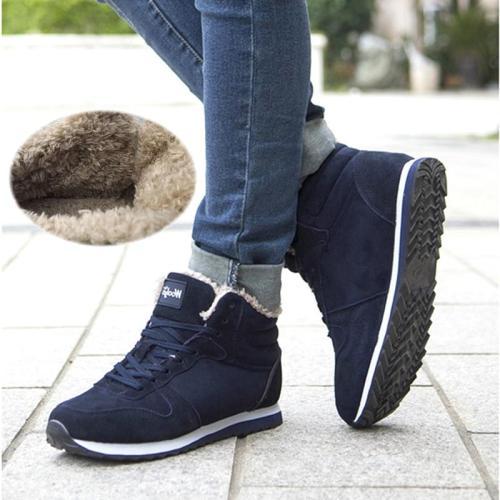 UPUPER Men Snow Boots Men Winter Shoes Lightweight Comfort Sneakers Men Ankle Boots Plus Size 36-48 Zapatos De Hombre