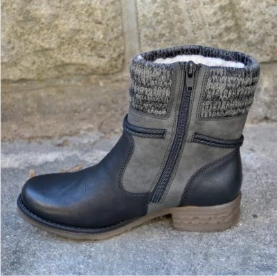 2020 Winter Boots Women Basic Ankle Boots Woman Round Toe Zip Platform Boot Female Shoes Warm Lace Up Boots Plush Botas mujer