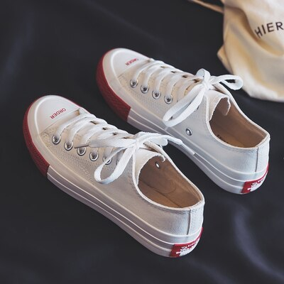 Woman Red Shoes 2019 Spring New Candy Color Ladies Fashion Sneakers Women Colorful Tenis Femino Low Top Vulcanized Shoe 35-40