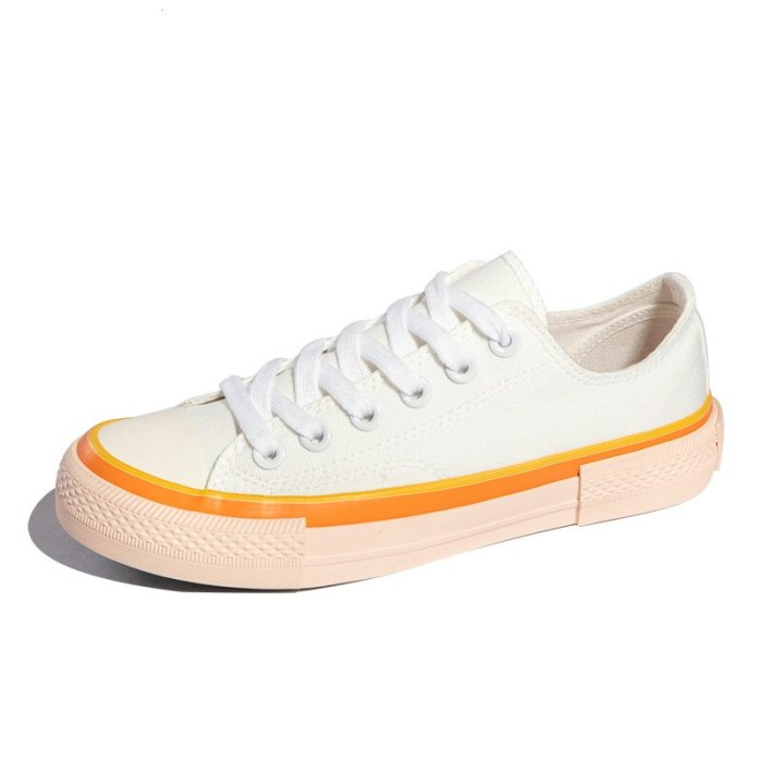 2021 New Stylish Women Shoes Summer Spring Mixed Color Low High Top Girl Sneakers All Match Candy Color Fashion Casual Gumshoes