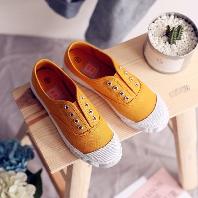Women Canvas Shoes Elastic Band Lady Loafers Flat Heel Slipon All Match Girls White Shoes Sneakers Spring Autumn Tenis Femino