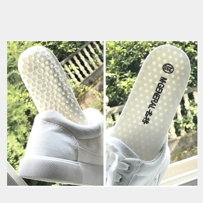 M.GENERAL Women White Shoes Canvas Female Black Shoes All Match Solid Color Casual Sneakers Lace Up Fresh Style Flat Size 35-40