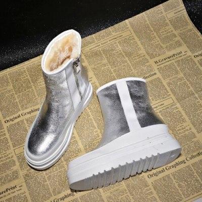Winter Outdoor shiny furry Snow Boots Women's Zipper Platform Warm Boots thick sole velvet plus Student Women's Boots Y945