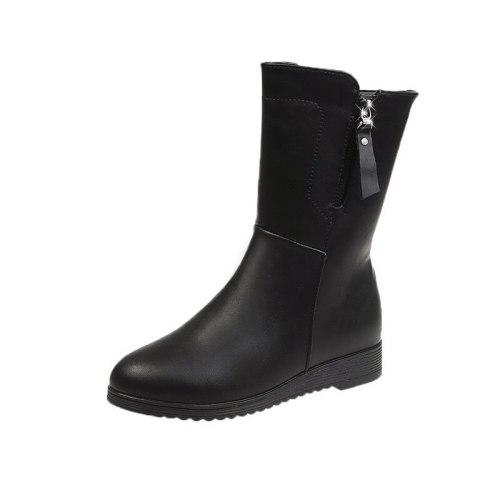 Best-selling New Women Winter Boots Fashion Shoes Women Boots Plus Plush /  Warm Snow Boots Women Boots platform  Mid-calf