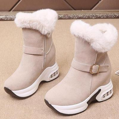 Women Winter Boots Furry Fur Platform Snow Boots Hight Increase Ankle Boots Thick Warm Female Shoes Winter Sneakers Ladies Boot
