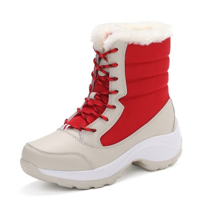 Women Boots Women Snow Boots With Platform Winter Shoes Woman Plush Ankle Botas Mujer Thick Heels Booties Winter Boots Women