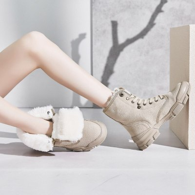 30 Degrees Below Zero Snow Boots Women Winter Shoes 2020 Winter Suede Boots Plush Warm Shoes Leather Ladies Ankle Boots A1797