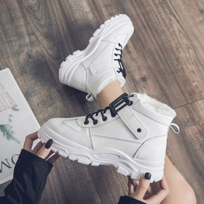 Women Winter Snow Boots 2020 New Fashion Style High-top Shoes Casual Woman Waterproof Warm Woman Martin Boots Platform Boots