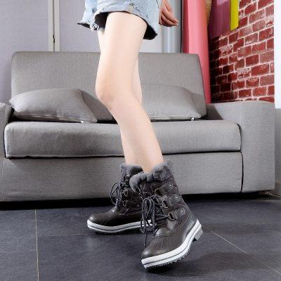 Big Size 36-42 High Quality 2020 Woman Snow Boots Women Winter Shoes Fashion Warm Plush Mid Calf Winter Boots Women Waterproof