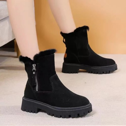 Winter Shoes Warm Fur Women Snow Boots Platfrom Ankle Boots Plus Size 2020 Winter Women's Shoes Slip On Zipper Female Shoes