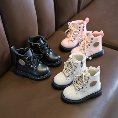 England New Autumn Kids Snow Boots Children's Winter Ankle Winter Girl Boots Unisex PU Leather Shoes For kids Snow Shoes C10281