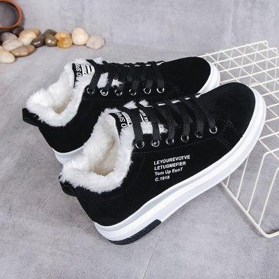 Cotton Shoes Female New Women's Boots Winter Plus Velvet Cotton Shoes Thick-Soled Warm Snow Women's Boots Women's Cotton Boots