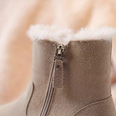 Winter Shoes Warm Fur Women Snow Boots Platfrom Ankle Boots Plus Size 2020 Winter Women's Shoes Slip On Zipper Female Shoes