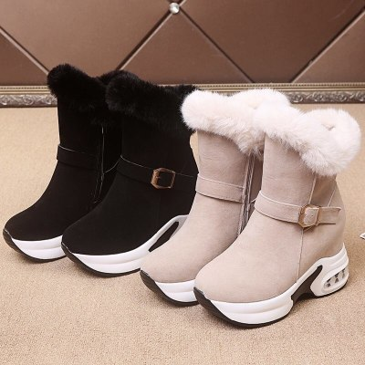 Women Winter Warm Rabbit Fur Sneakers Platform Snow Boots Women 2020 Ankle Boots Female Causal Shoes Ankle Boots For Women