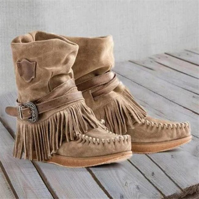 Women Tassel Winter Snow Boots Ladies Suede Ankle Boot Female Fashion Casual Shoes Comfort Footwear Plus Size 35-43