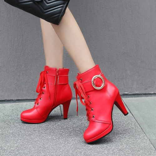 Fashion Women's Short Boots Shoes Autumn Winter 2020 Zipper Western Cowboy Boots For Women Casual Ankle Boots Large Size 46