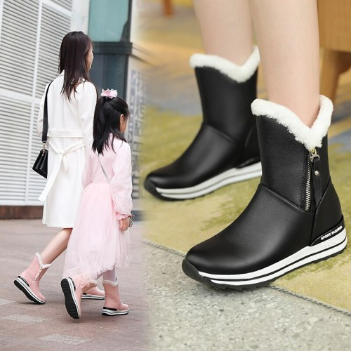 Women Boots Classic Snow Boots Low Heels Winter Boots Shoes Woman Warm Plush Ankle Botas Mujer 2020 Women Winter Shoes 31 32 33