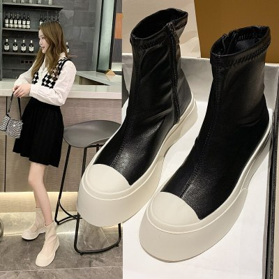 Women' Ankle Boots 2020 Fashion Style Women Spring Platform Boots Ladies Chunky Shoes