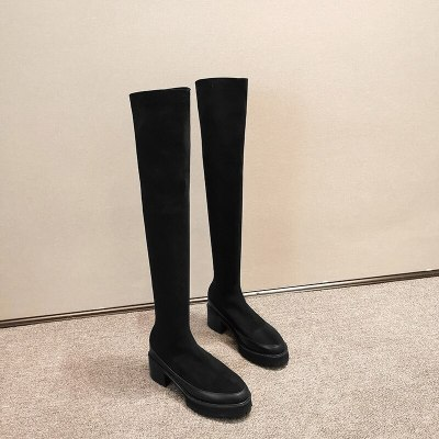 SIZE 34-43 new 2021 slim over the knee boots women super high heels platform shoes autumn sexy thigh high boots female