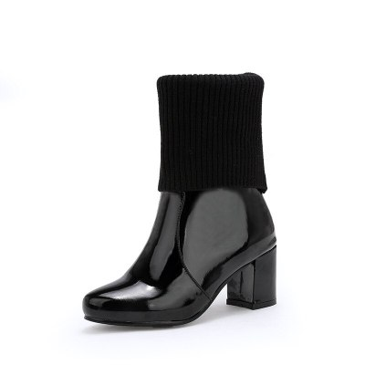 Classic Ankle Boots For Women Black White 2020 Fashion Autumn Winter Women's ankle boots Shoes Short Boots Lady Сапоги женские