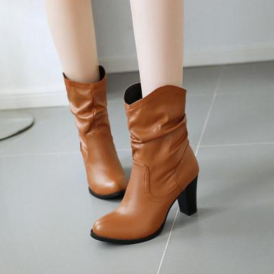 Fashion Women's Short Boots Shoes Autumn Winter 2020 Western Cowboy Boots For Women Casual Ankle Boots Large Size 46
