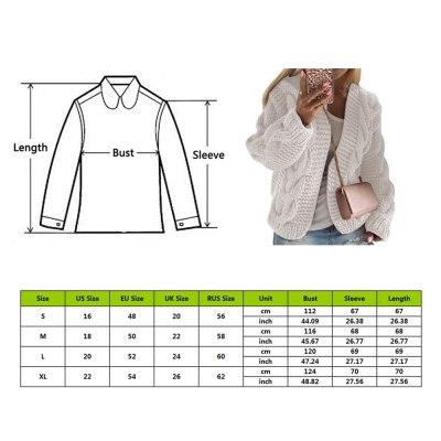 Women Winter Warm Solid Cardigans Long Sleeve Ladies Winter Sweater Cardigans Soft Handfeel Knit For Women Cardigans Dropship