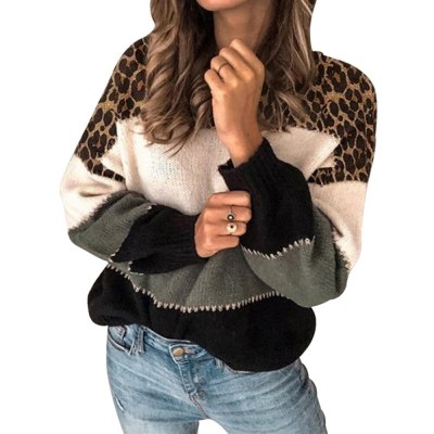 Sweaters Women Winter 2020 Knitted Clothes Fashion Women Patchwork Knit Warm Sweater Female Loose Casual Large Size Clothes Drop