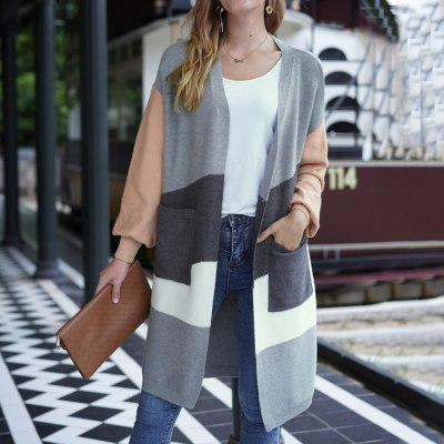 New Loose Knitting Sweater Cardigan Women Long Sleeves Cloth Colors Fashionable Thin Top Boho Style Coat Casual Cardigans Ladies