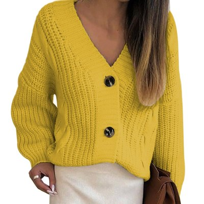 2020 Autumn Sweater Women V Neck Solid Loose Knitwear Single Breasted Casual Knit Cardigan Outwear Winter Jacket Coat Cloth