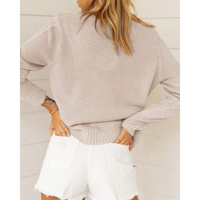 Adisputent  Loose Autumn Sweater Women 2020 New Casual Fashion Knitted Sweater Oversized Warm Female Pullovers Fashion Solid Top