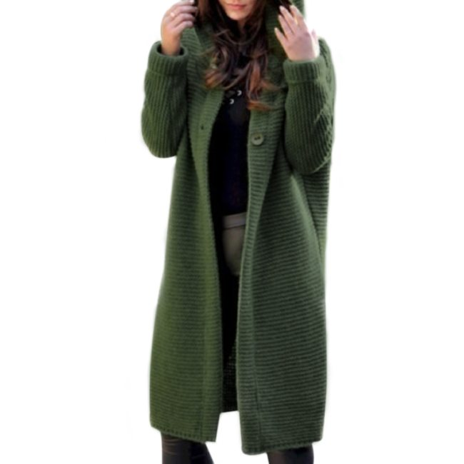 2020 New Spring Autumn Winter Women Solid Long Sweater Loose Knitting Cardigan Hooded Coat Office Lady Plus Size 5XL Dropship