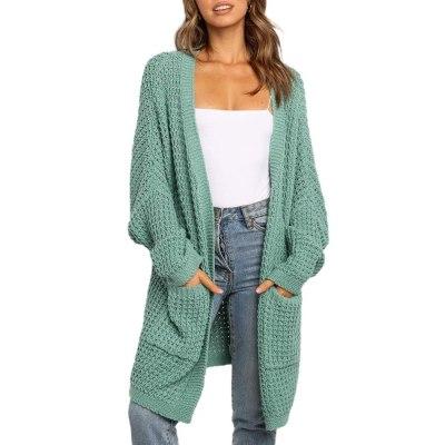 2020 Autumn Knitwear Cardigan Sweater Women Long Sleeve Large Size Knitted Sweaters Cardigan Female Solid Jumper Coat