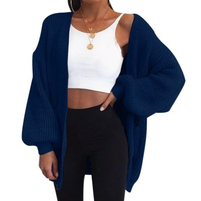 2020 Style Sweater Casual Batwing Sleeve Knitwear Cardigan Women Large Knitted Sweater Cardigan Jumper Coat female Dropshipping