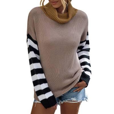 Women Turtleneck Sweaters Autumn Winter 2020 Pull Jumpers European Casual Twist Warm Sweaters Female oversized sweater Pull