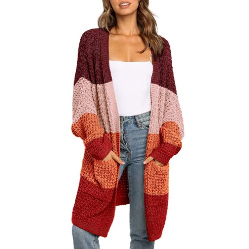 2020 Autumn Knitwear Cardigan Sweater Women Long Sleeve Large Size Knitted Sweaters Cardigan Female Solid Jumper Coat