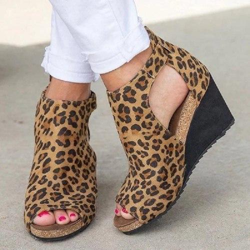 Women Sandals 2021 Fashion Office Summer Sandals Shoes Buckle Strap Leisure Platform Wedges Sandals Wedges High Heels Shoes