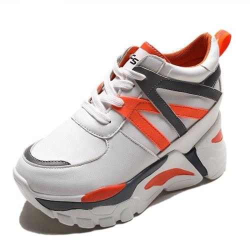 Super High Heels Platform Shoes Women Casual Vulcanized Shoes Comfortable Rubber Wedges Shoes for Women Autumn Women Shoes