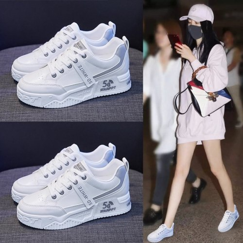 2021 Fashion Women's Shoes Autumn Women's Lace-up Color Matching Non-slip Sneakers Women's Comfortable Breathable Casual Shoes