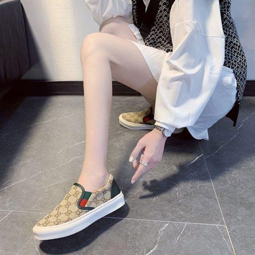 Best Seller Women Shoe Slippers Sweet Beauty Flats Comfortable Shoes For Women Pink Korean Shoes Female Designer Brand Sneakers