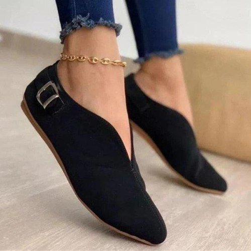 2021 Pointed Toe Suede Women Flats Shoes Woman Loafers Summer Fashion Sweet Flat Casual Shoes Women Zapatos Mujer Plus Size35-43