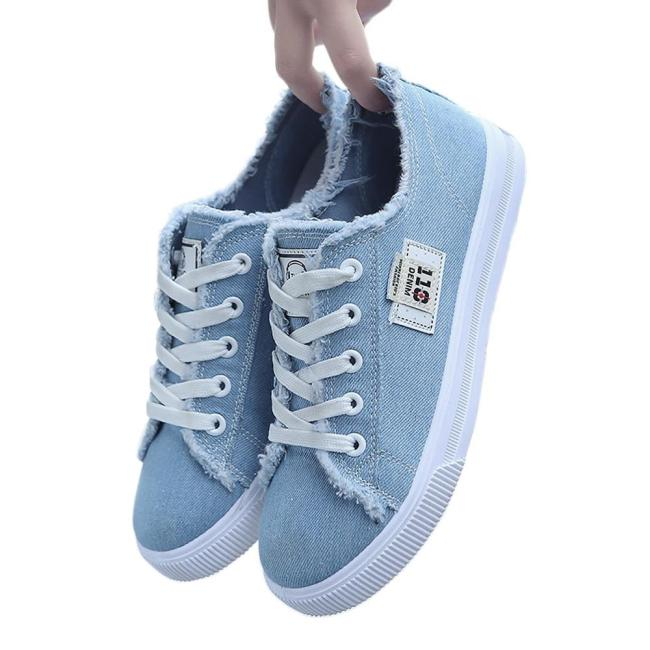 Women Sneakers Tenis Canvas shoes Vulcanize Shoes Female Summer Tenis Trainers Lace Up Big size 42 Zapatos de mujer