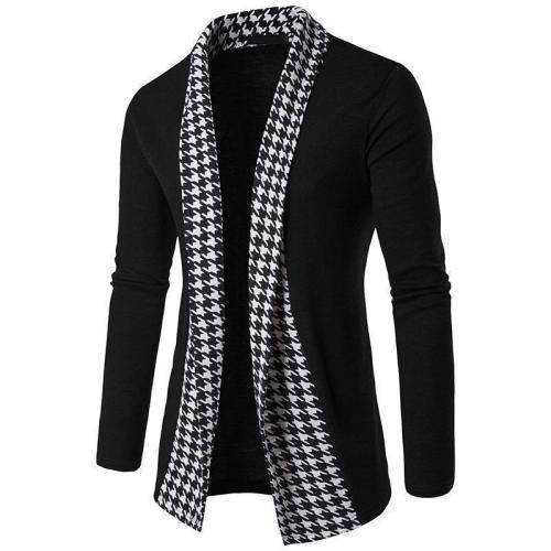 Fashion Loose Split Joint Plain Knit Cardigan