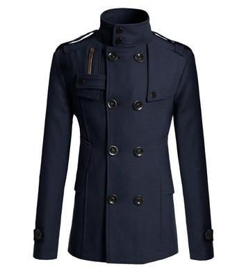 Men Good Quality Double Breasted Wool Blend Overcoat For Men Size M-3XL Fashion 2018 Brand Winter Long Trench Coat