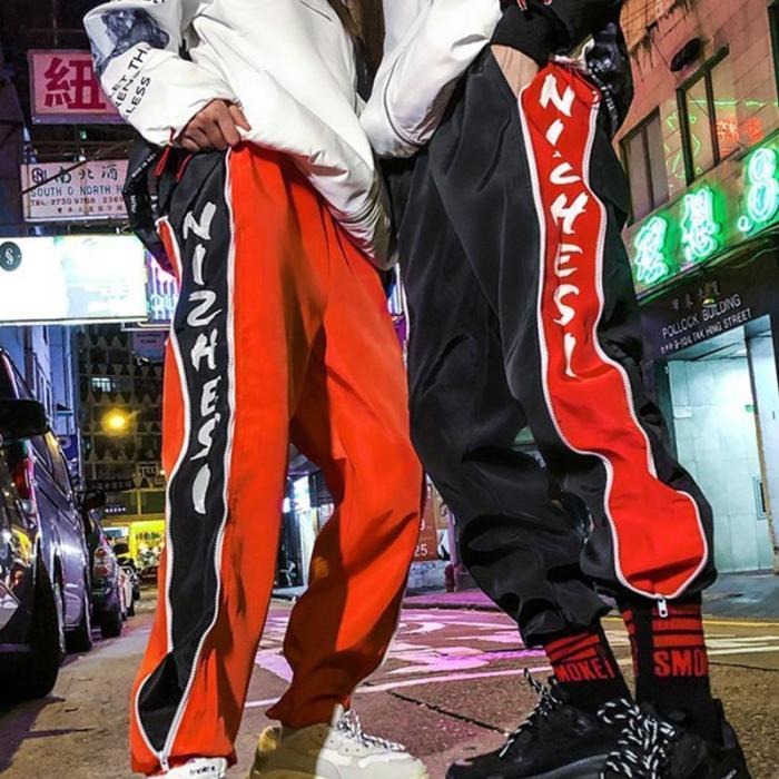 Street Hip Hop Loose Stitching Men's Casual Trousers