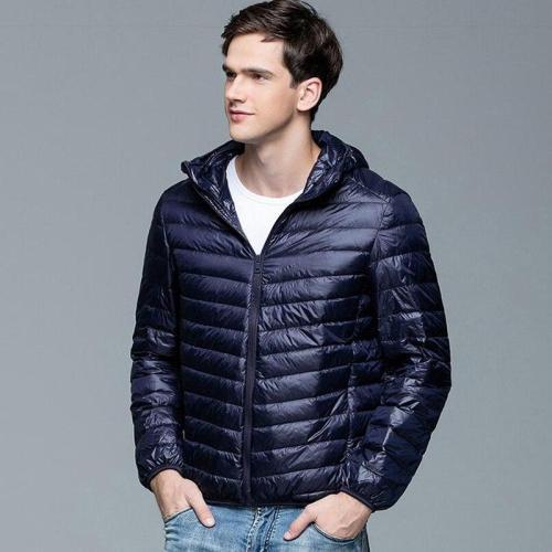 Winter warm Feather Jacket Man Ultralight  Coat Hooded 90% White Duck Waterproof  Jacket Outwear Parkas
